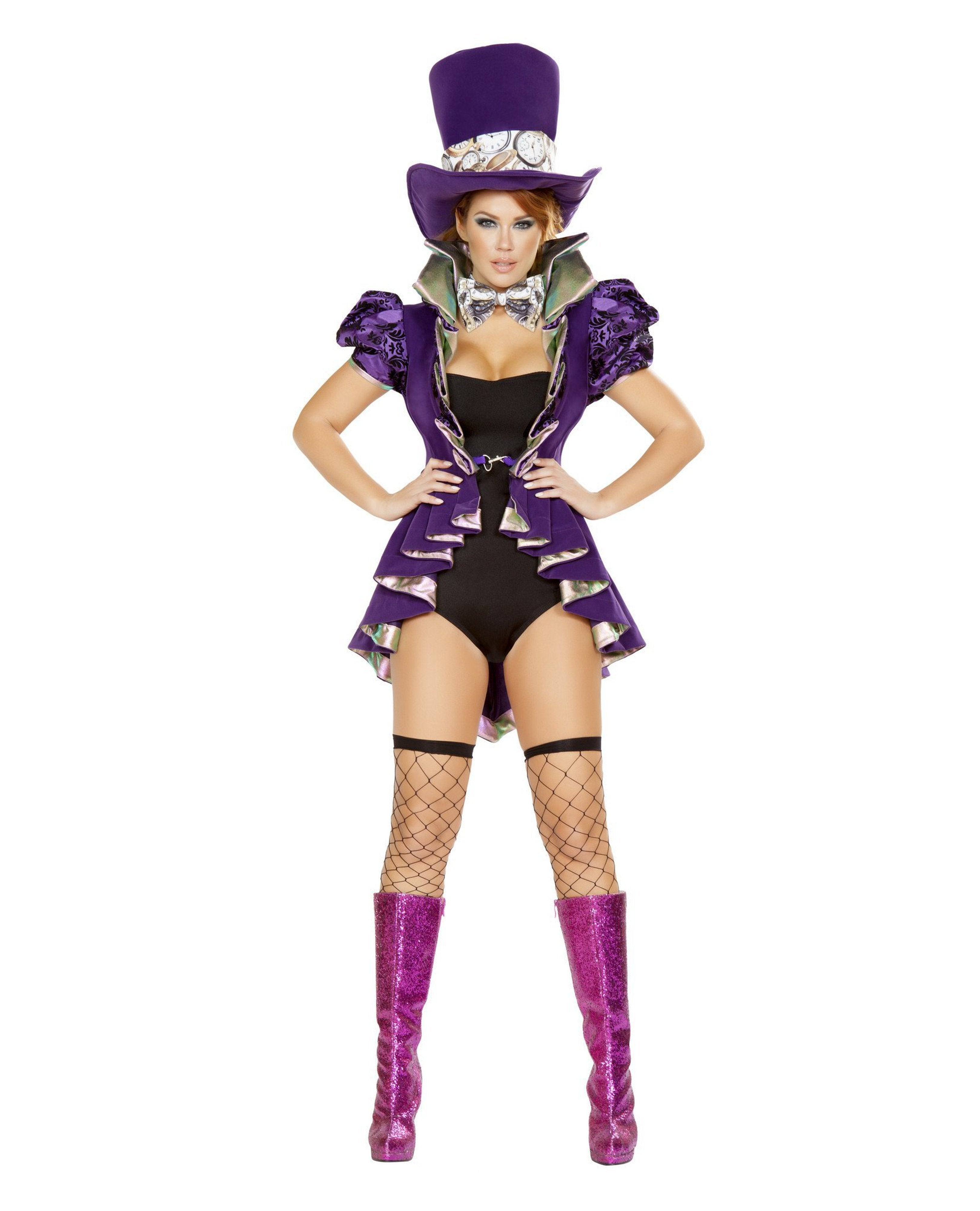Mad Hatter Costume costumes Size LargeColor Purple/BlackNakees