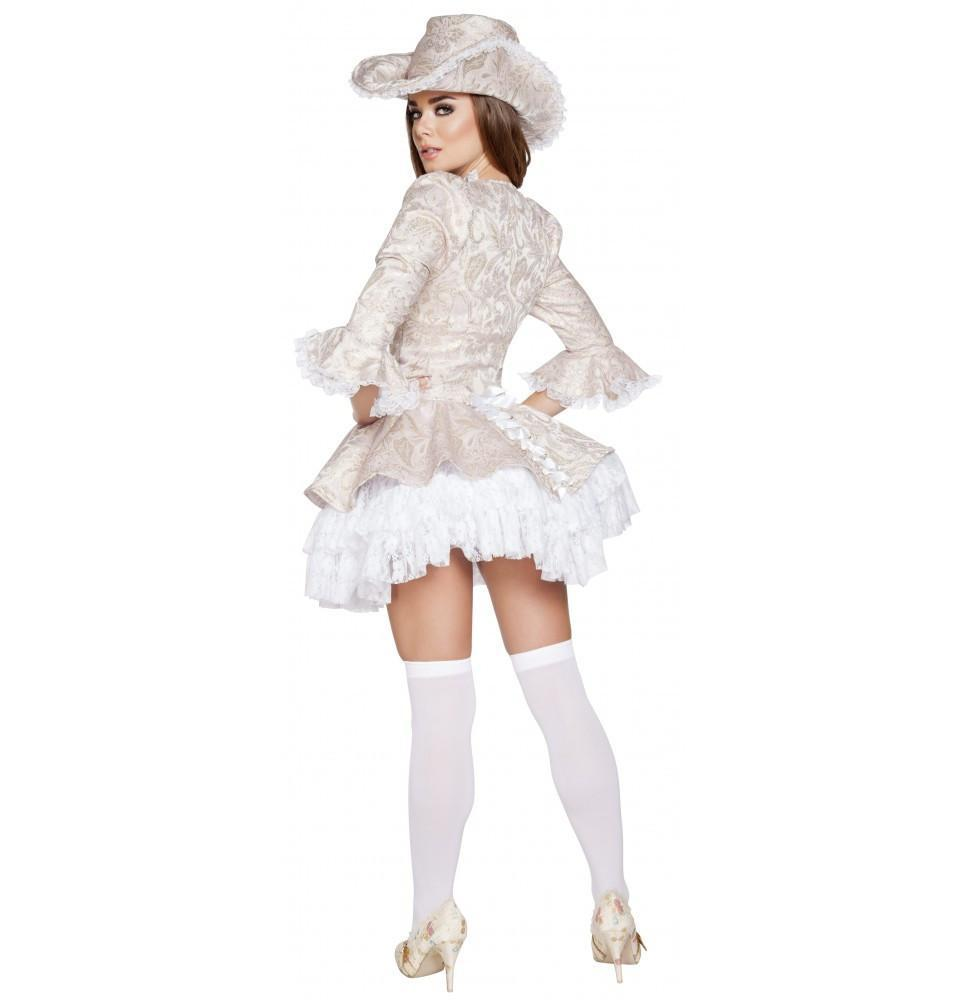 Marie Antoinette costumes Color White/PinkSize LargeNakees