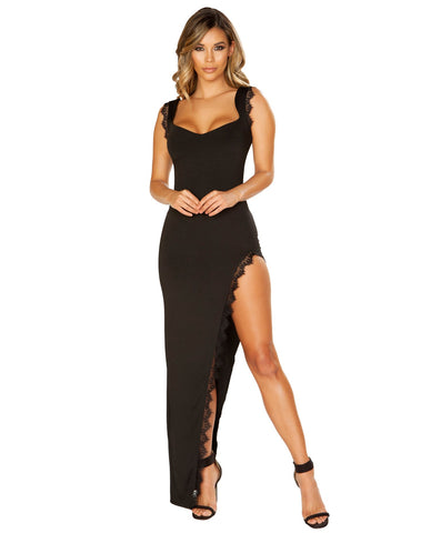 Long-Sleeved Cutout Dress club wear Size SmallColor BlackNakees