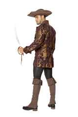 Mens Pirate Jacket costumes Size LargeColor Brown/PurpleNakees