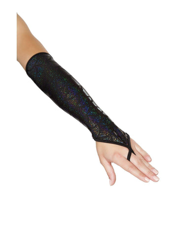 Mermaid Costume Fingerless Gloves Accessories Size One Size Color Black Nakees