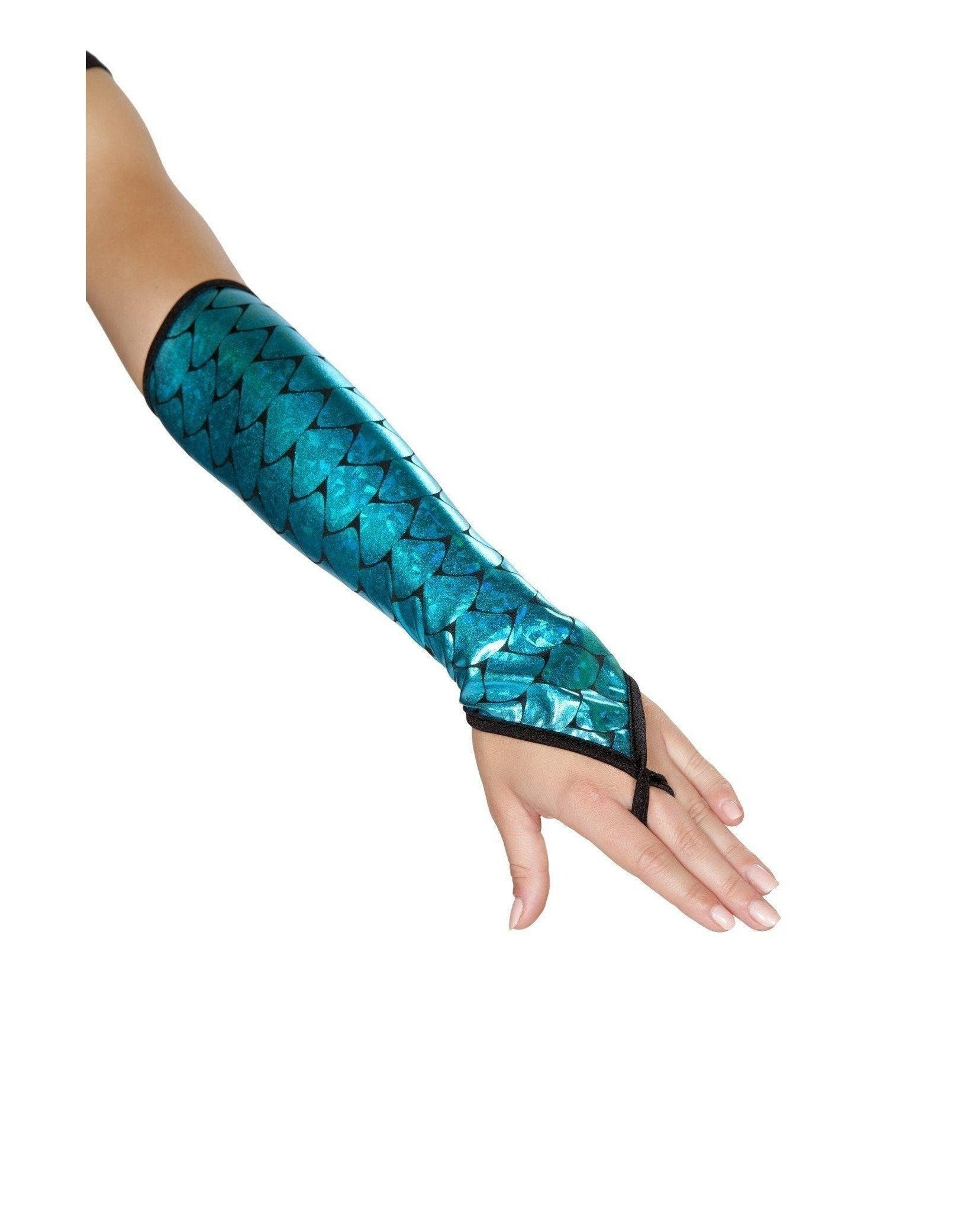 Mermaid Costume Fingerless Gloves Accessories Size One SizeColor BlackNakees