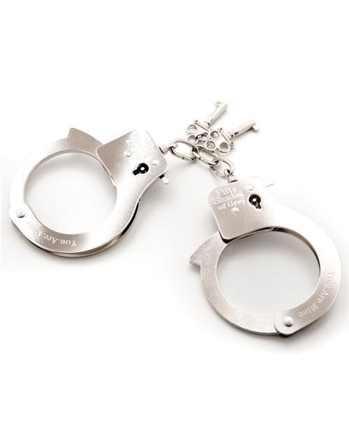 Metal Handcuffs sex toys color greyNakees