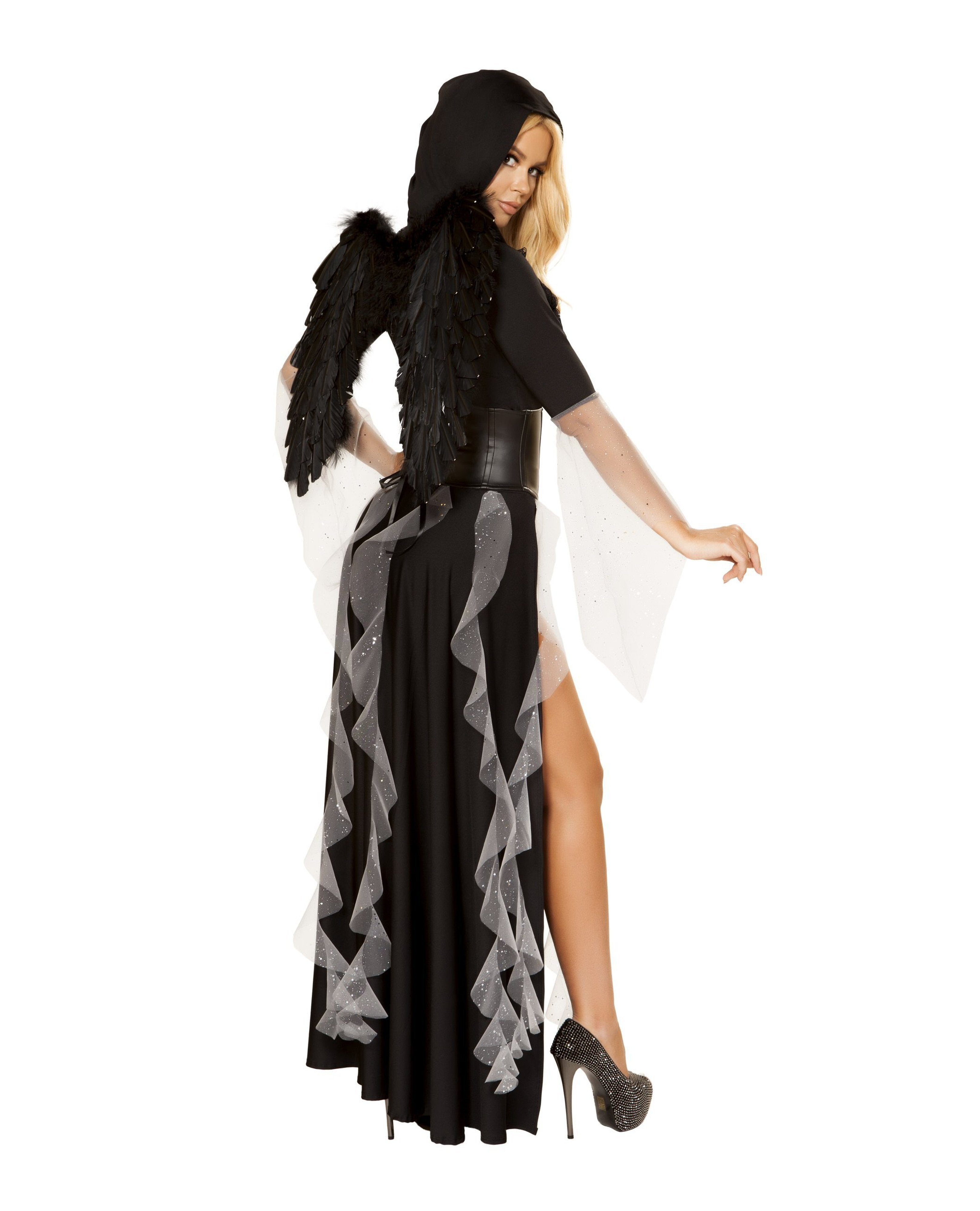 Midnight Angel costumes Size SmallColor Black/SilverNakees