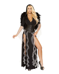 Midnight Angel-costumes-Roma Costume-Small-Black/Silver-Nakees