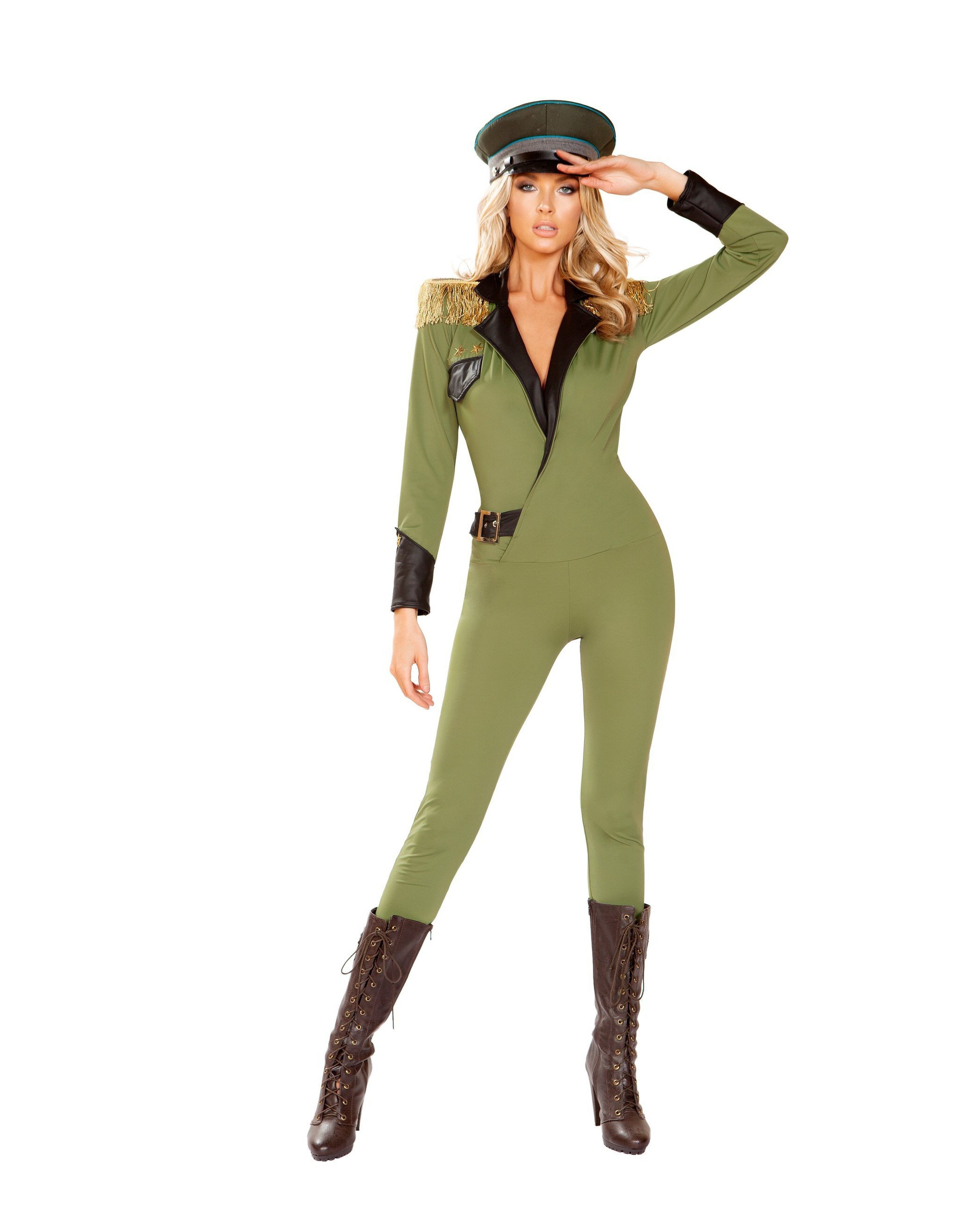 Military Army Babe Costume costumes Size Small/MediumColor GreenNakees