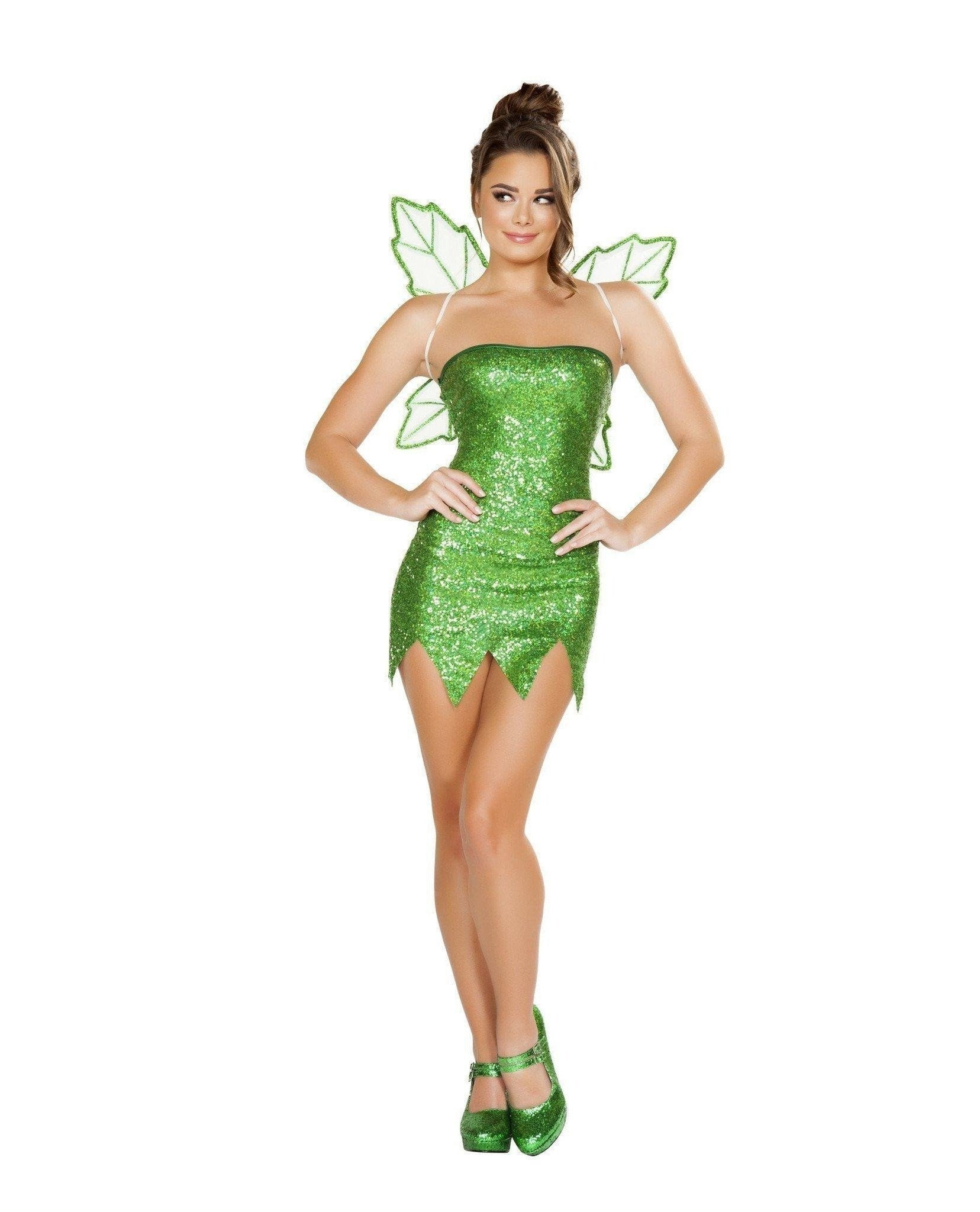 Mischievous Fairy-Costumes-Roma Costume-Large-Green-Nakees