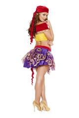 Mischievous Gypsy costumes Size MediumColor Red/Purple/YellowNakees