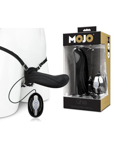 Mojo Ghia Vibrating Male Harness-dildo-MOJO-black-Nakees