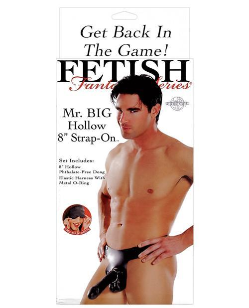 Mr. Big Hollow Strap On-sex toys-Pipedream-black-Nakees