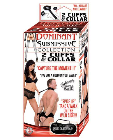 Nasstoys Dominant Submissive Collection 2 Cuffs & Collar Bondage Set-sex toys-Dominant Submissive-Nakees