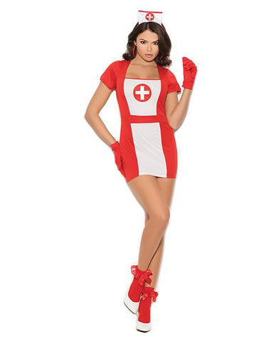 Naughty Nurse Costume costumes size small color red/white Nakees