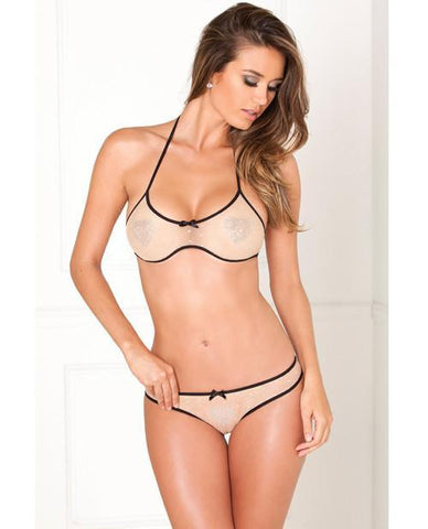 Nude Bra and Panty Set-lingerie-Rene Rofe-small/medium-nude-Nakees