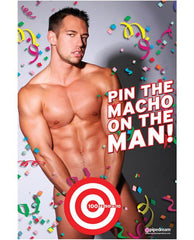 Pin the Macho On The Man Bachelorette Game women Nakees