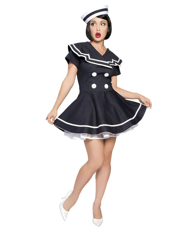 Pin-Up Captain-costumes-Roma Costume-XS-As Shown-Nakees