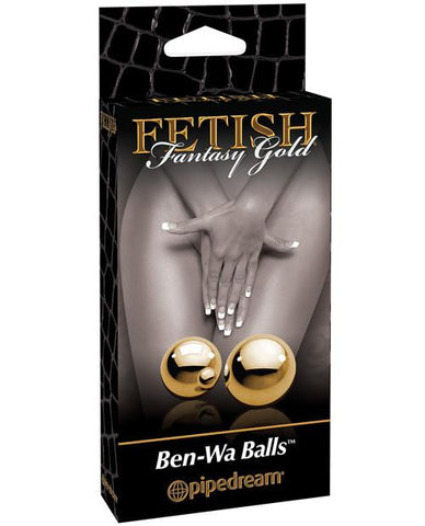 Pipedream Fetish Fantasy Gold Ben Wa Balls-women-Pipedream-gold-Nakees