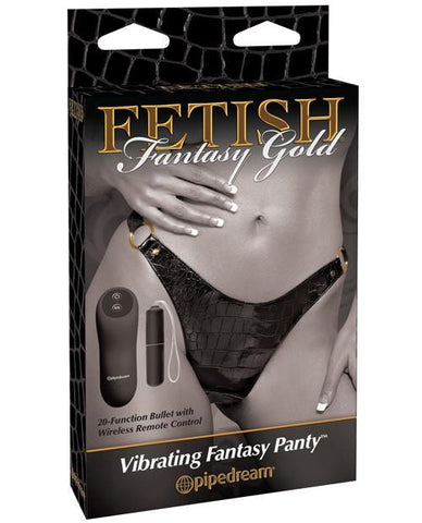 Pipedream Fetish Fantasy Gold Vibrating Fantasy Panty-women-Pipedream-gold-Nakees