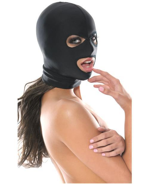 Pipedream Spandex 3 Hole Hood sex toys color blackNakees