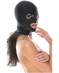 Pipedream Spandex 3 Hole Hood-sex toys-Pipedream-black-Nakees