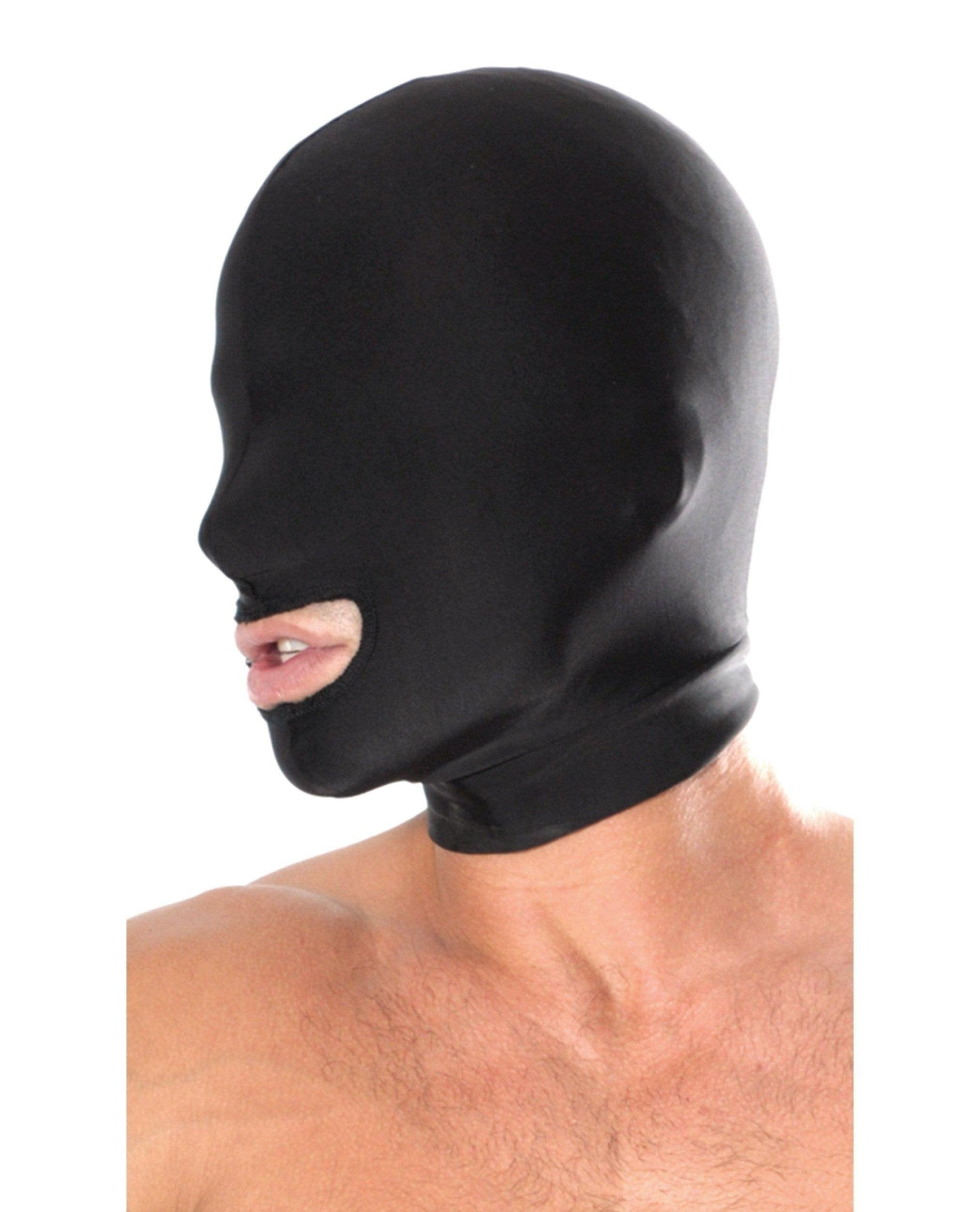 Pipedream Spandex Open Mouth Hood sex toys color blackNakees