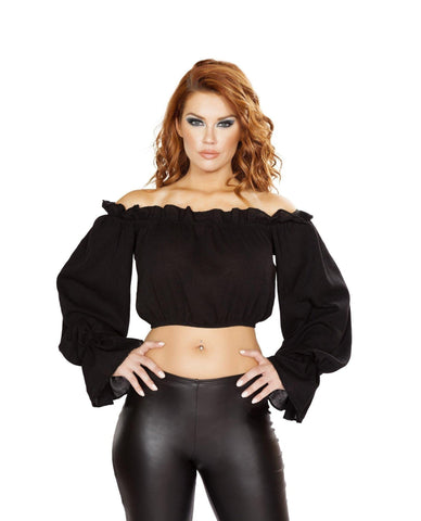 Pirate Costume Tube Top-Costumes,Tops-Roma Costume-Large-Black-Nakees