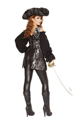 Pirate of the Night costumes Size LargeColor Black/SilverNakees