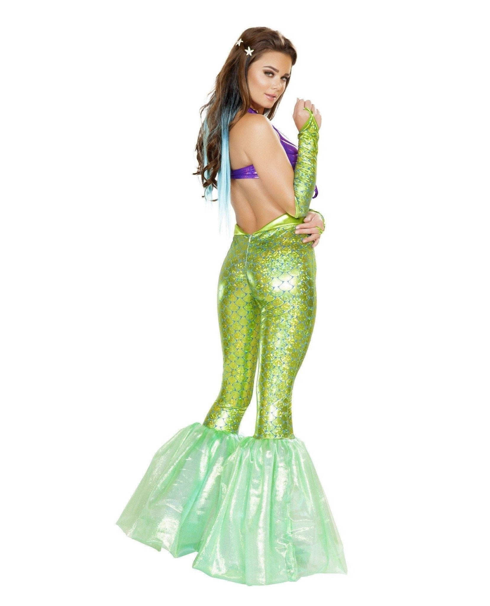 Poseidon's Daughter Mermaid Costume Costumes Size LargeColor Purple/GreenNakees
