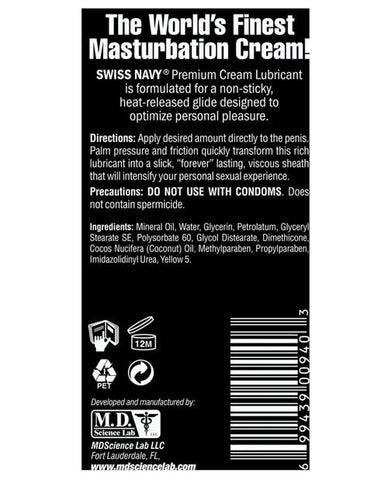 Premium Masturbation Cream-essentials-Swiss Navy-Nakees