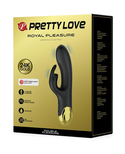 Pretty Love Double Pleasure Liquid Silicone Rabbit Vibrator-rabbit vibrator-Liaoyang Baile Health Care Product Co., Ltd-black & gold-Nakees