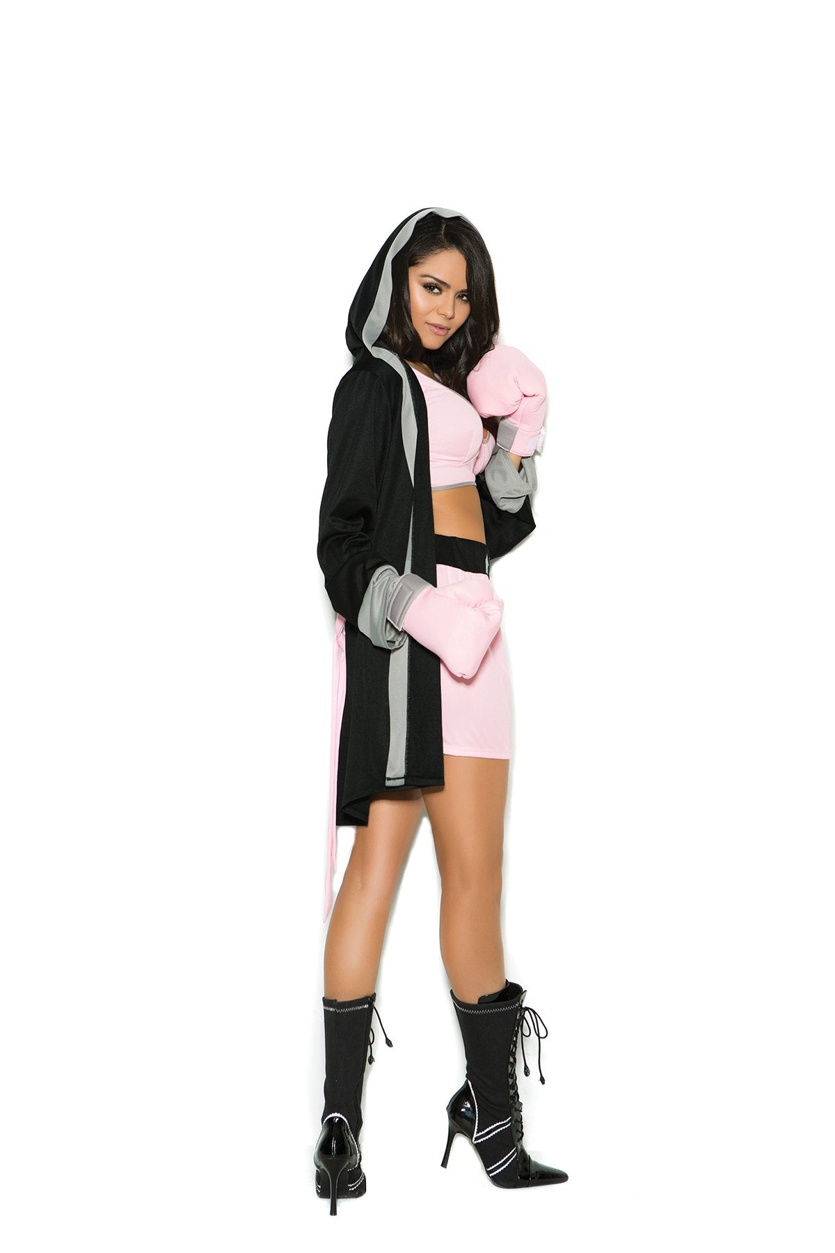 Prize Fighter Boxer Costume costumes size smallcolor pinkNakees