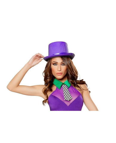 Purple Top Hat-Accessories-Roma Costume-One Size-Purple-Nakees