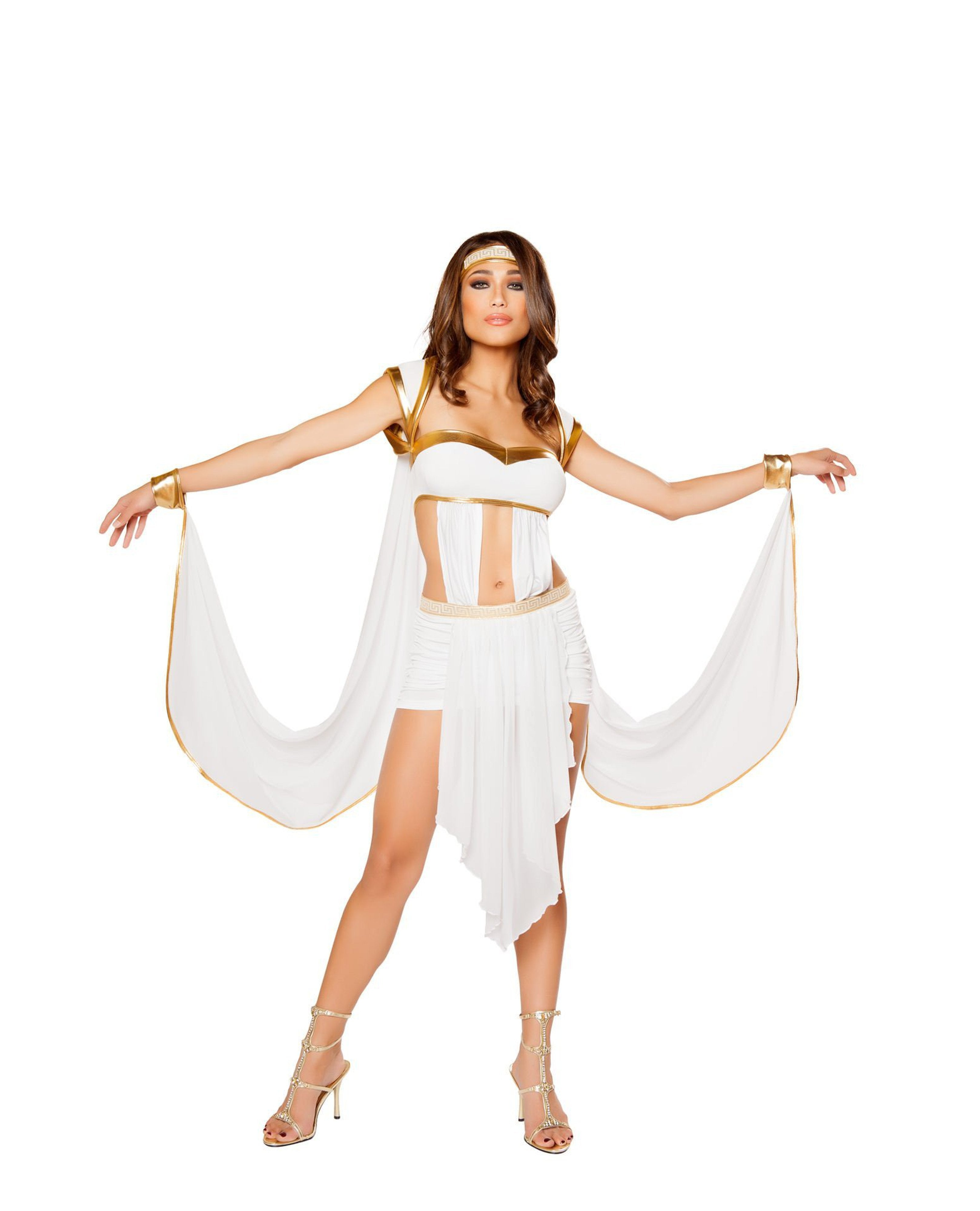 Queen of Olympus costumes Size MediumColor White/GoldNakees