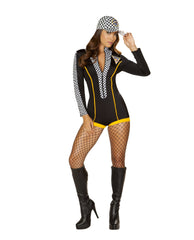 Race Car Diva costumes Size SmallColor Black/Yellow/WhiteNakees
