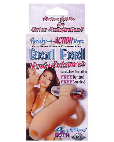 Ready-4-Action Real Feel Penis Enhancer couples color flesh  Nakees