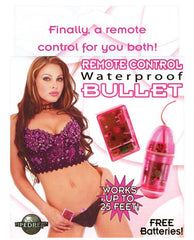 Remote Control Waterproof Bullet women color pink  Nakees
