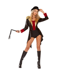 Ringmaster of Circuses costumes Size SmallColor Black/Red/GoldNakees