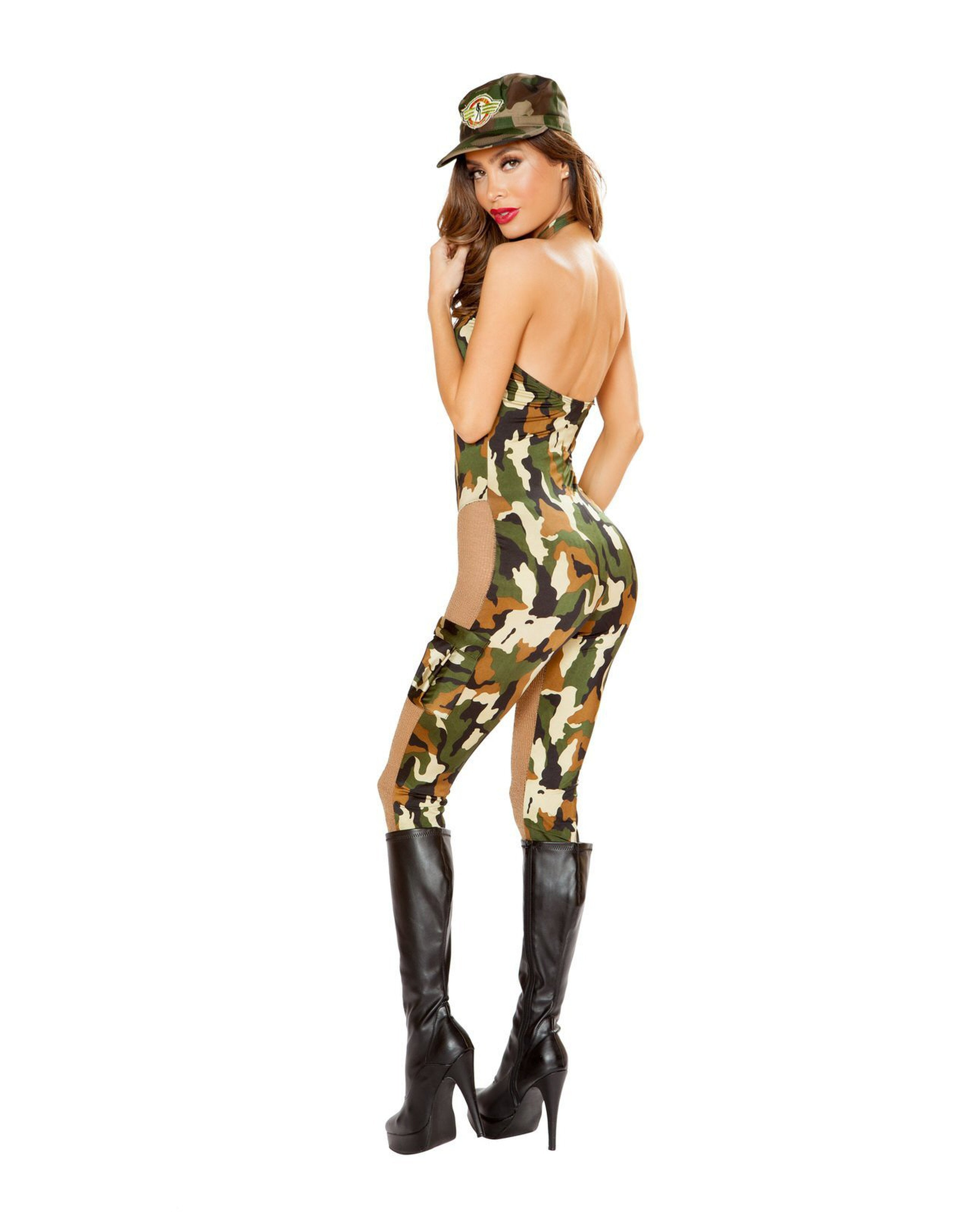 Sassy Army costumes Size SmallColor Brown/CamouflageNakees