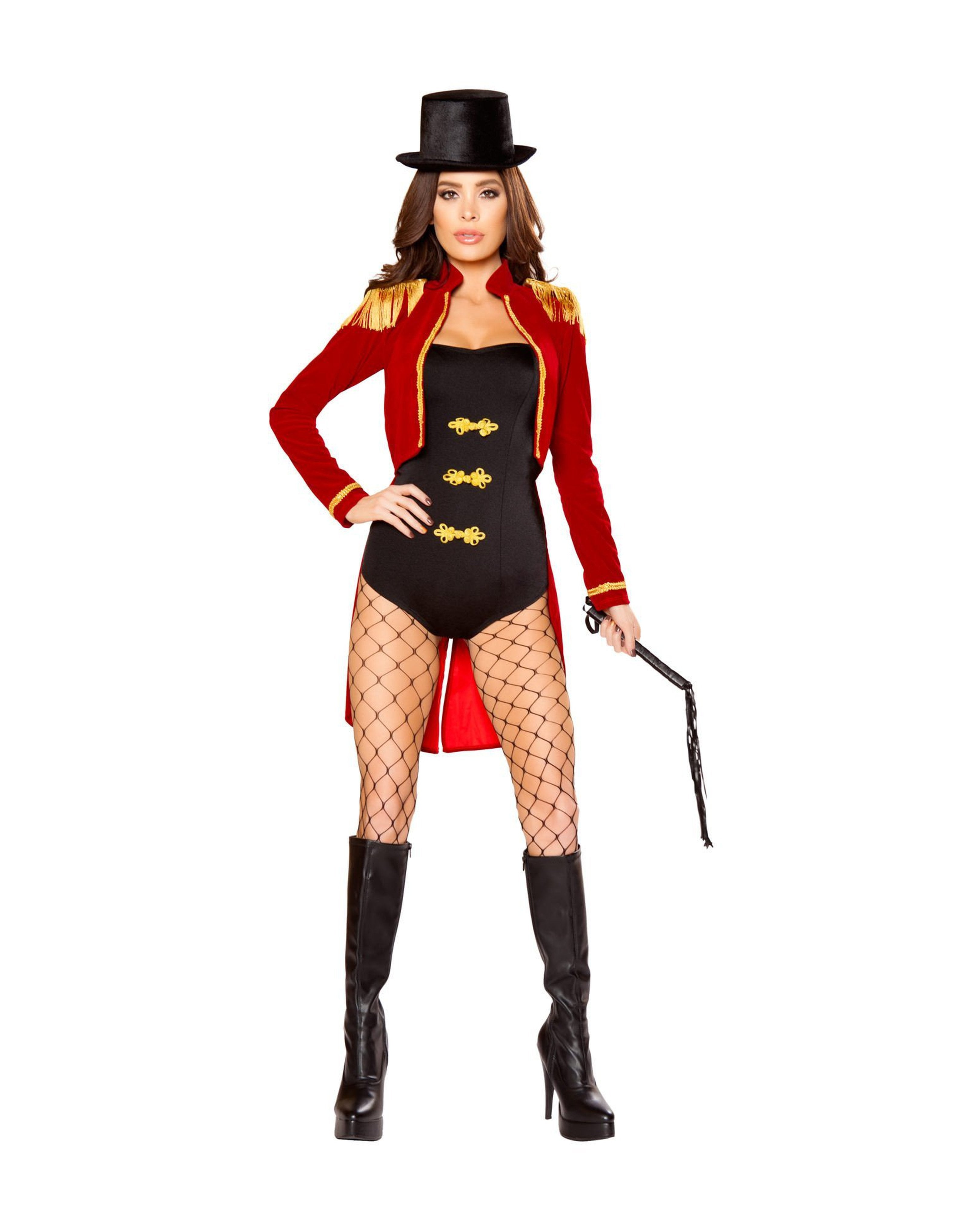 Sassy Ring Leader costumes Size SmallColor Black/Red/GoldNakees