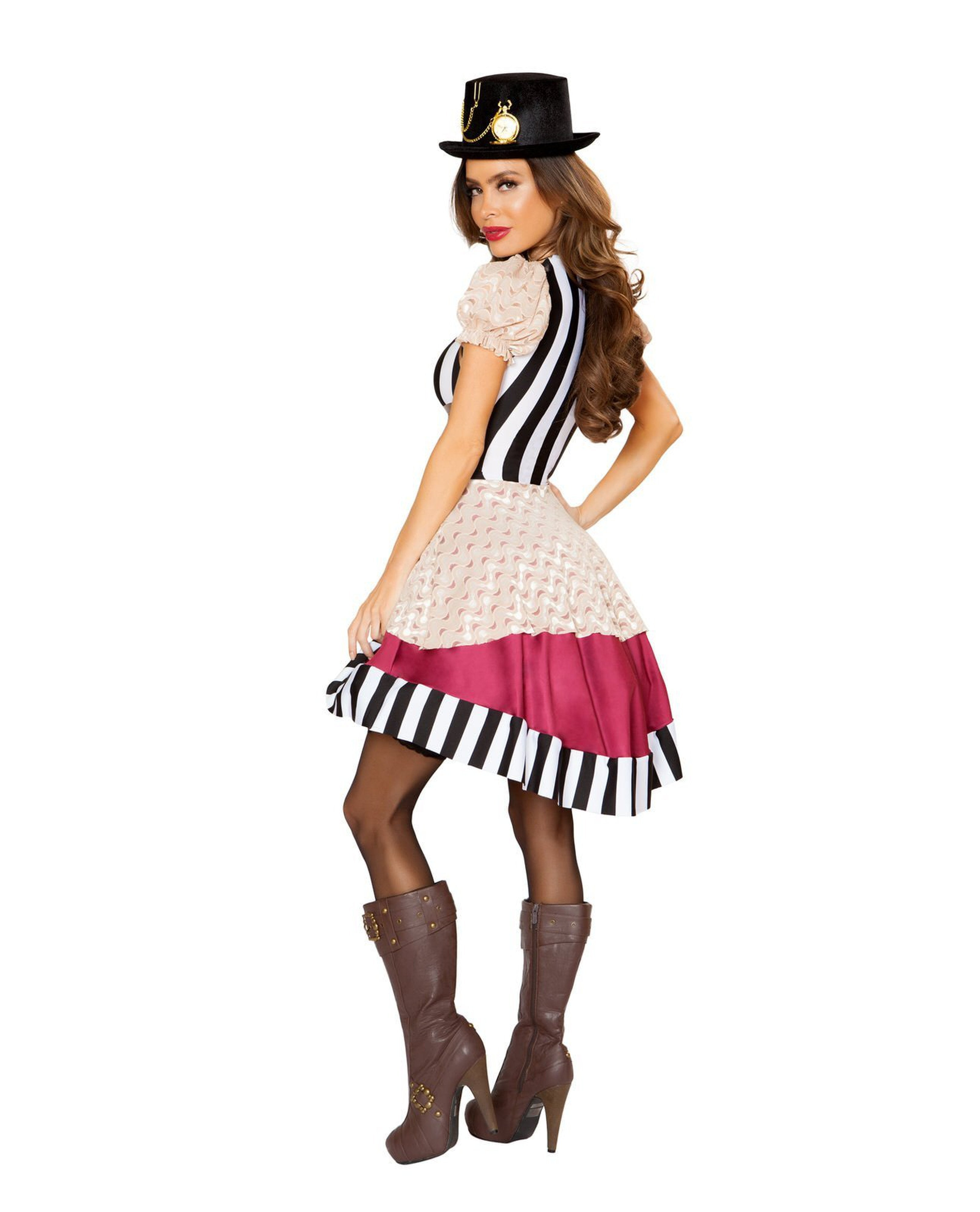 Sassy Steampunk costumes Size SmallColor White/Black/NudeNakees