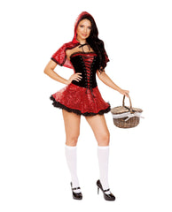 Scared Little Riding Hood Sexy Costume costumes Size SmallColor Red/BlackNakees