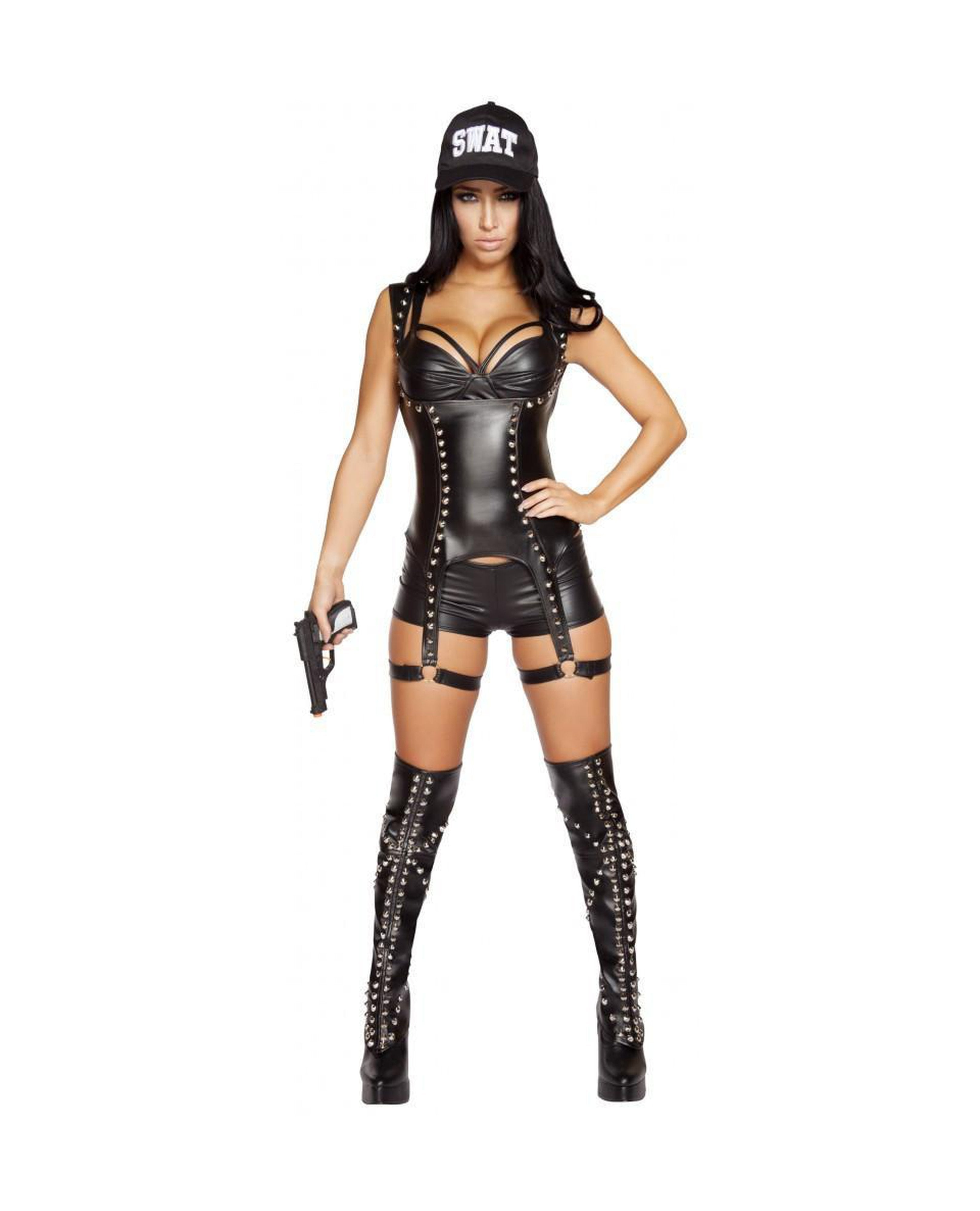Seductive SWAT Agent costumes Color As ShownSize MediumNakees