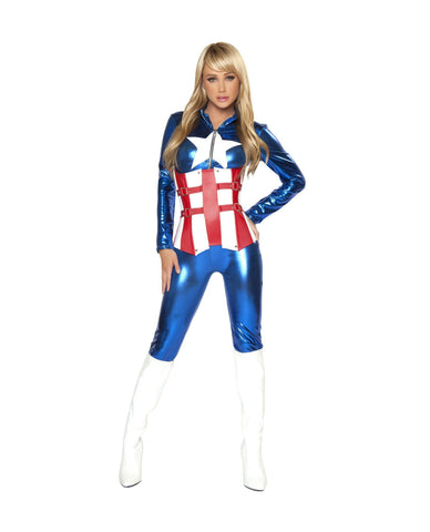 Red White and Blue Boot Cuffs costumes Color As ShownNakees