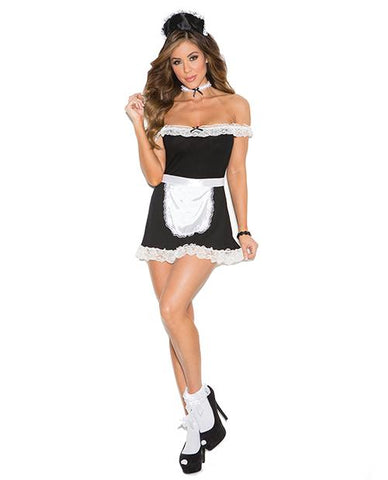 Sexy Maid Costume-costumes-Elegant Moments-S/M-black-Nakees