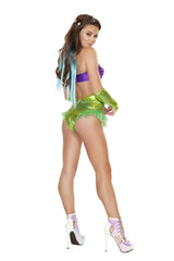 Sexy Mermaid costumes Size MediumColor Purple/GreenNakees