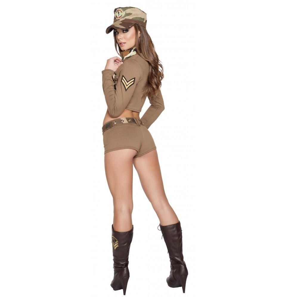 Sexy Soldier Babe costumes Color As ShownSize M/LNakees