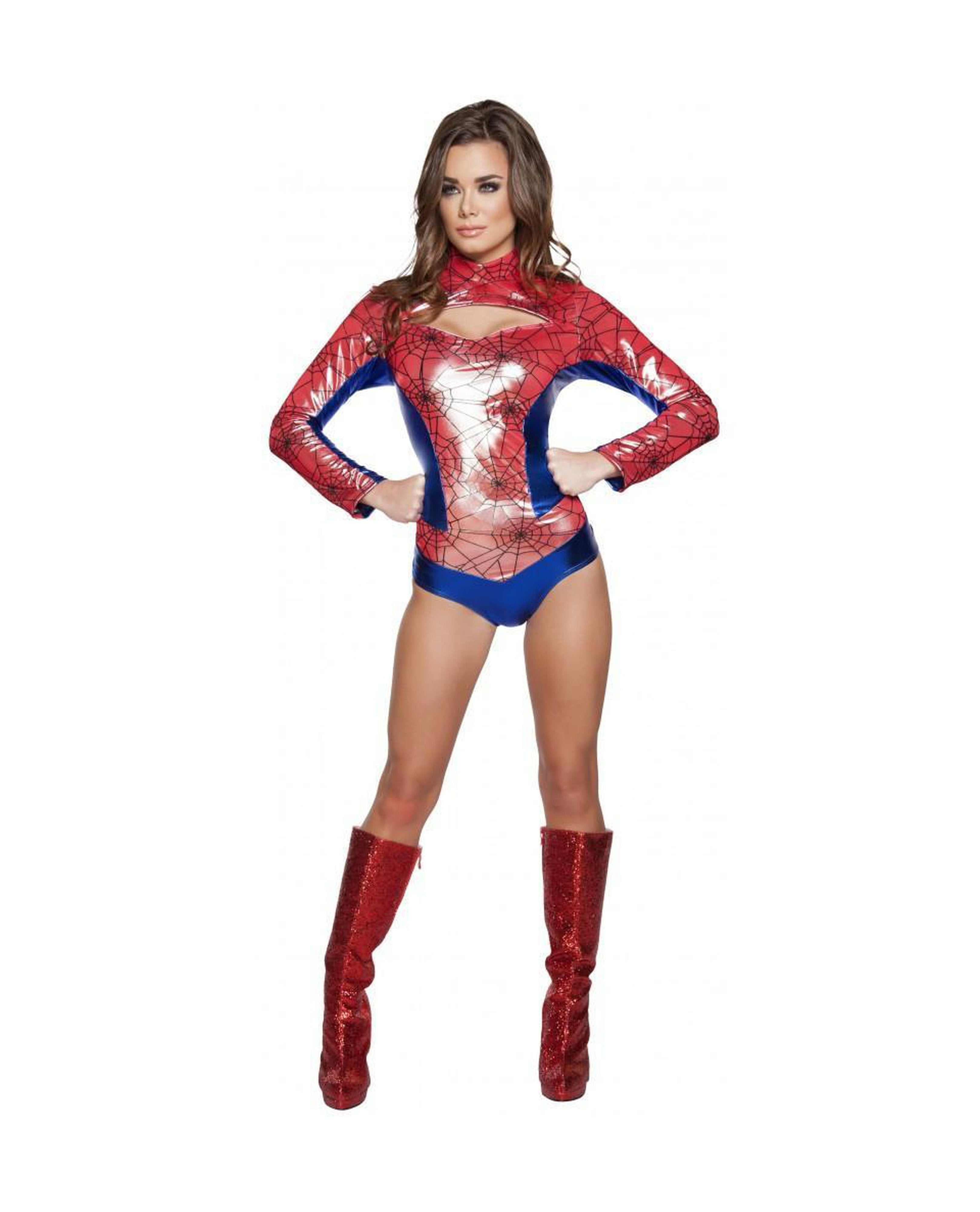 Sexy Spider Vigilante costumes Color Red/BlueSize LargeNakees