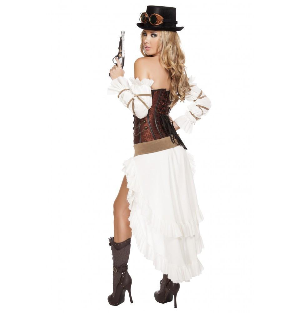 Sexy Steampunk Babe costumes Color As ShownSize SmallNakees