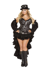 Sexy Steampunk Maiden costumes Size SmallColor Black/SilverNakees