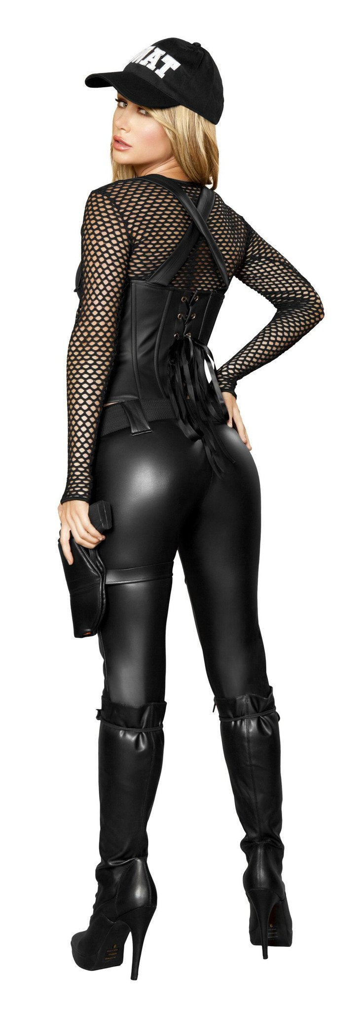Sexy SWAT Agent costumes Color BlackSize SmallNakees