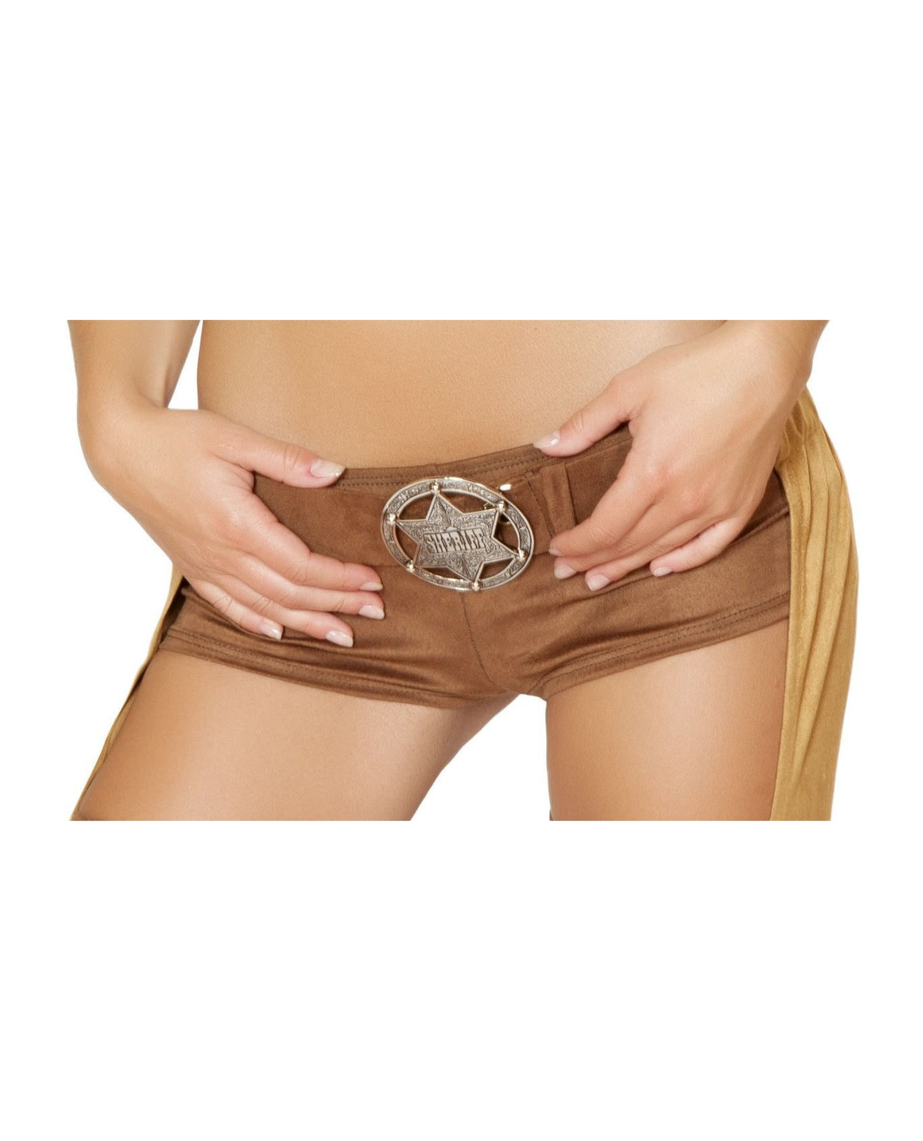 Sheriff Belt Buckle costumes Size One SizeColor SilverNakees